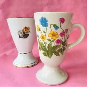 Vintage two porcelain vases